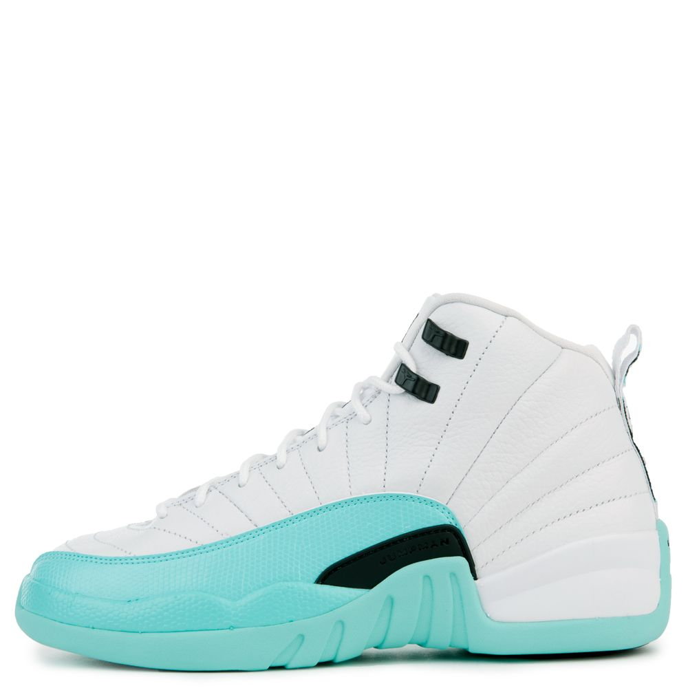 super popular 55734 ba1af AIR JORDAN 12 RETRO (GG) WHITE/BLACK-LIGHT AQUA
