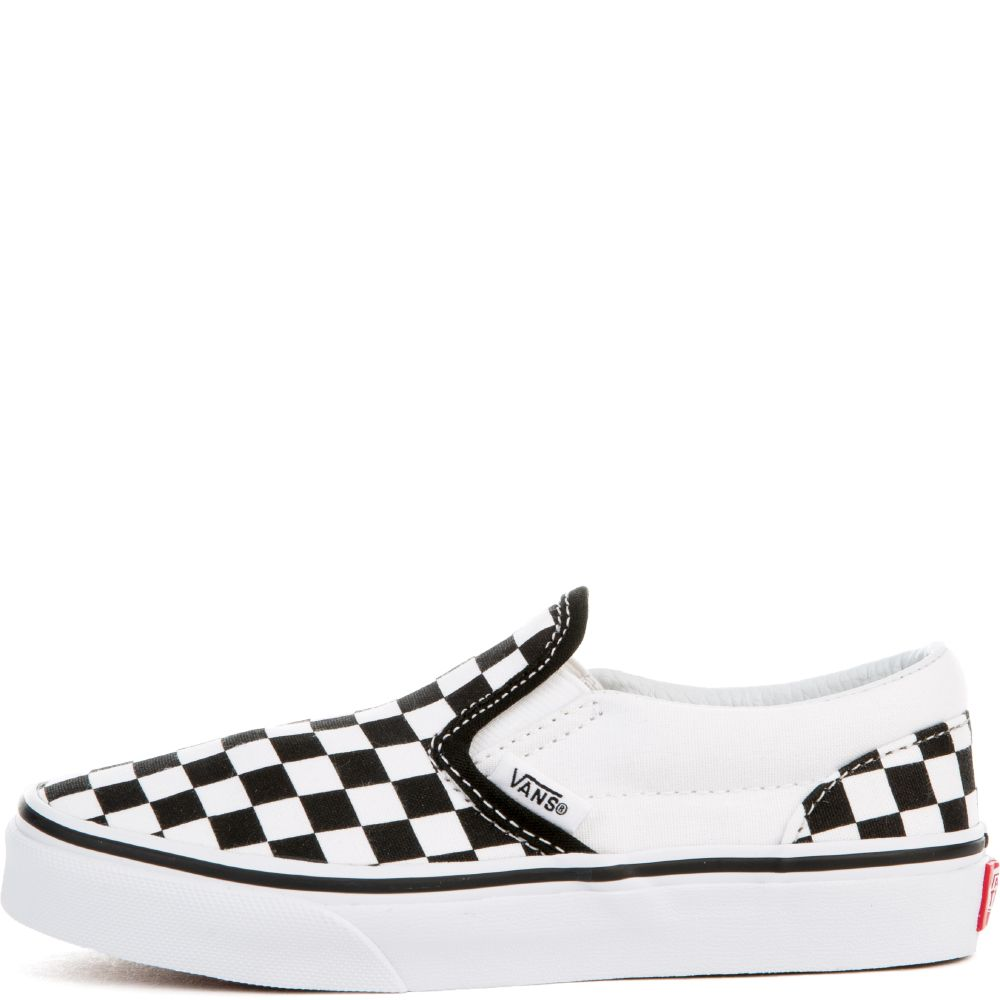 594eb269eef1 CLASSIC SLIP ON(CHECKERBOARD) PS BLACK TRUE WHT