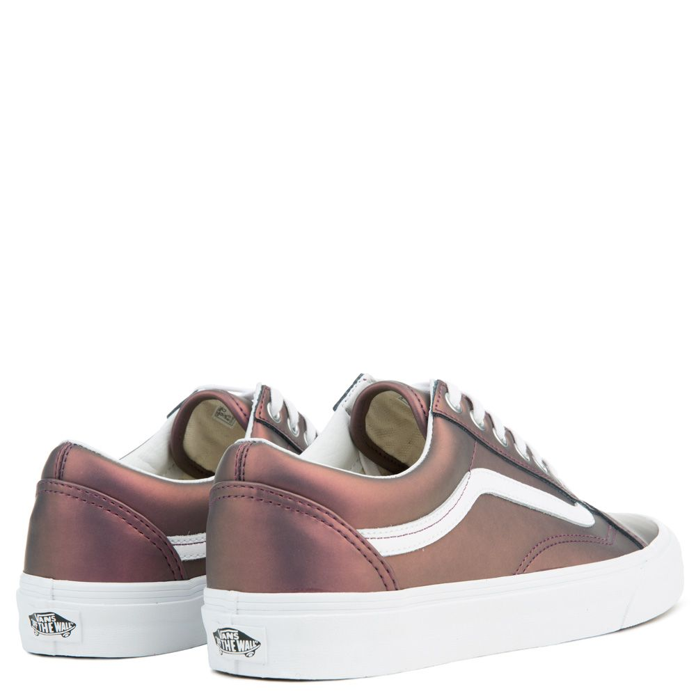 4ecec3e8be WOMEN S VANS OLD SKOOL MUTED METALLIC RED GOLD