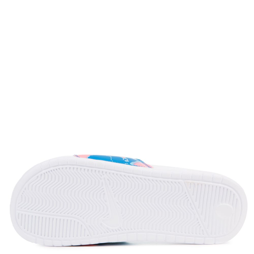 best sneakers 050a6 4b3e9 ... WOMEN S NIKE SPORTWEAR BENASSI JDI PRINT WHITE WHITE-CORAL CHALK-BLUE  NEBULA