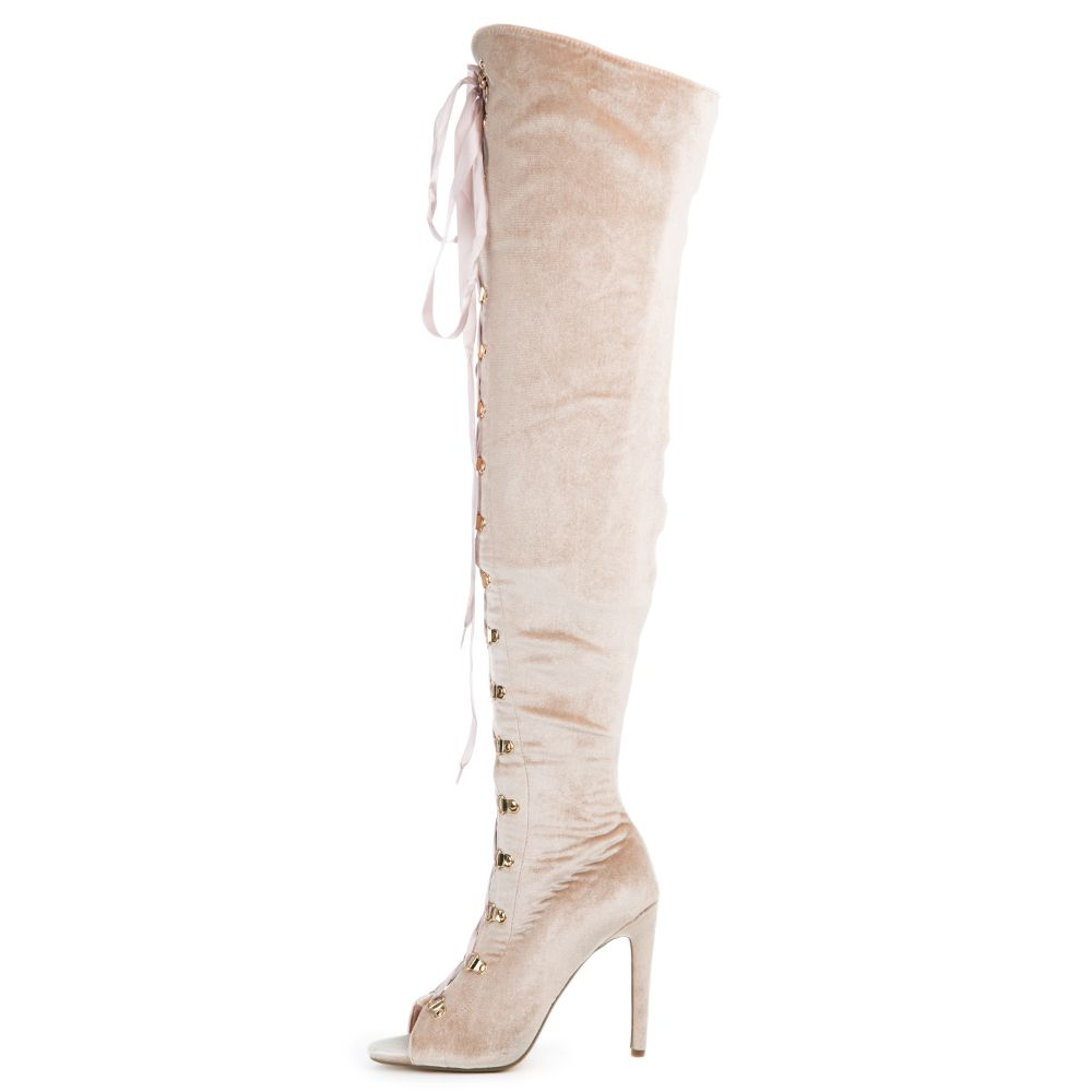 2351cb27c4f Cape Robbin Olga-27 Women's Pink High Heel Boot DUST ROSE