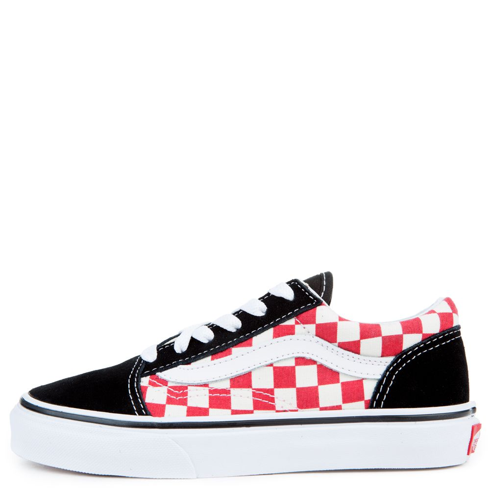 bee170abd5c PRESCHOOL VANS OLD SKOOL BLACK RED CHECKERBOARD