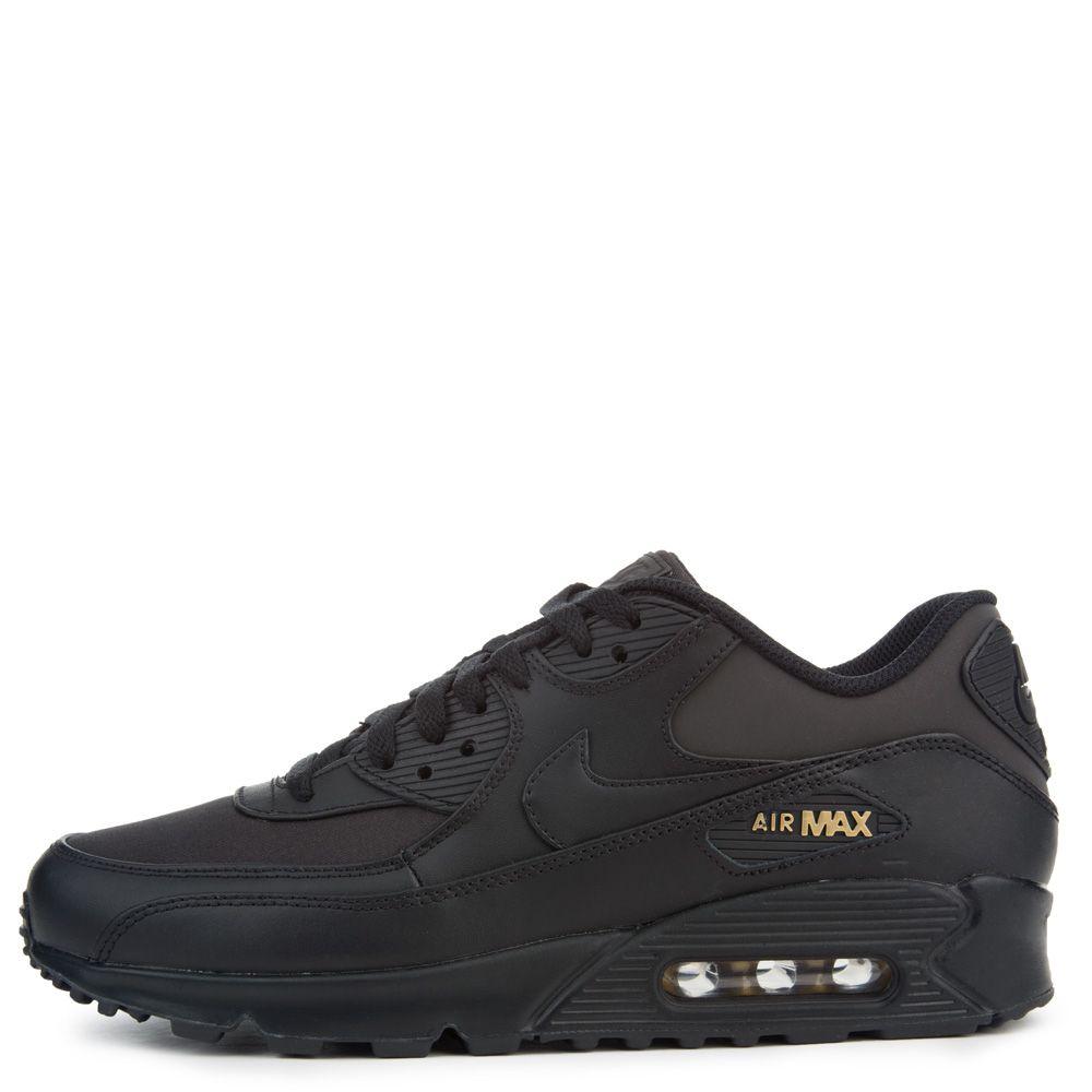 Air Max 90 Premium BLACK BLACK-METALLIC GOLD bd033d214