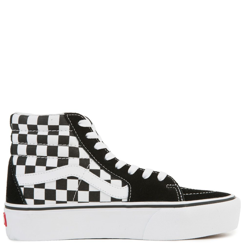 ... WOMEN S VANS UA SK8-HI PLATFORM 2.0 (CHECKERBOARD) TRUE WHITE ... be7e4c802