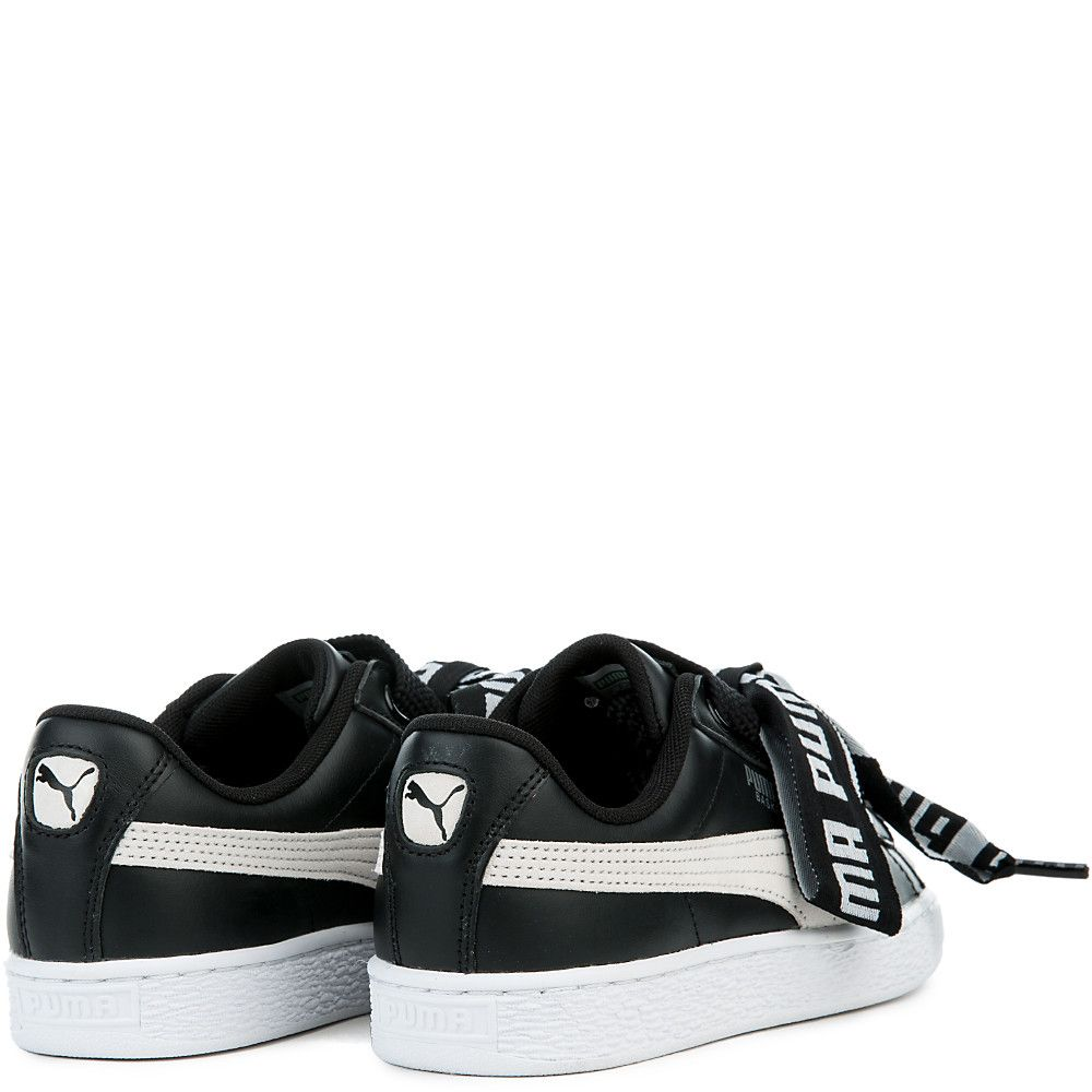 Women s Basket Heart De Sneakers PUMA BLACK PUMA WHITE f4a96be42c33
