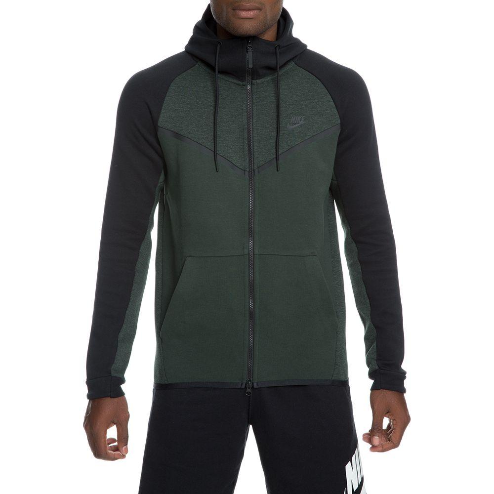 men s nike tech fleece windrunner hoodie outdoor green htr black black c4d47b0e4