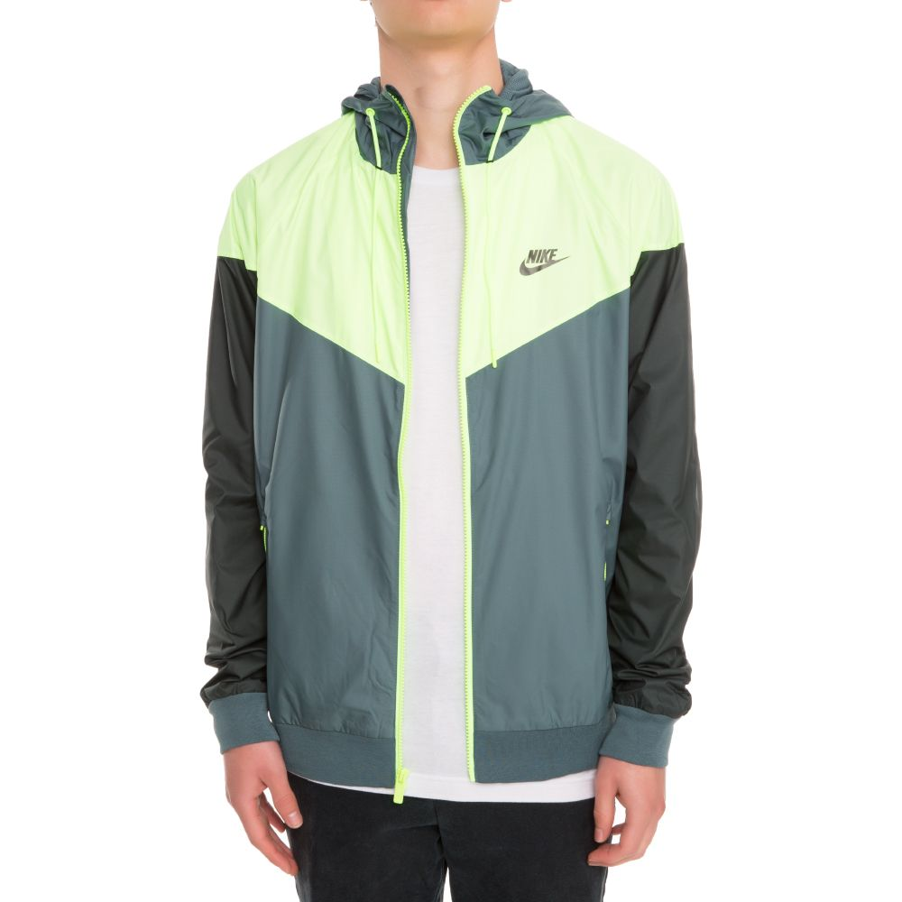 59b25b08c3 Nike Sportswear Windrunner Men s Jacket Black Lime Green Green
