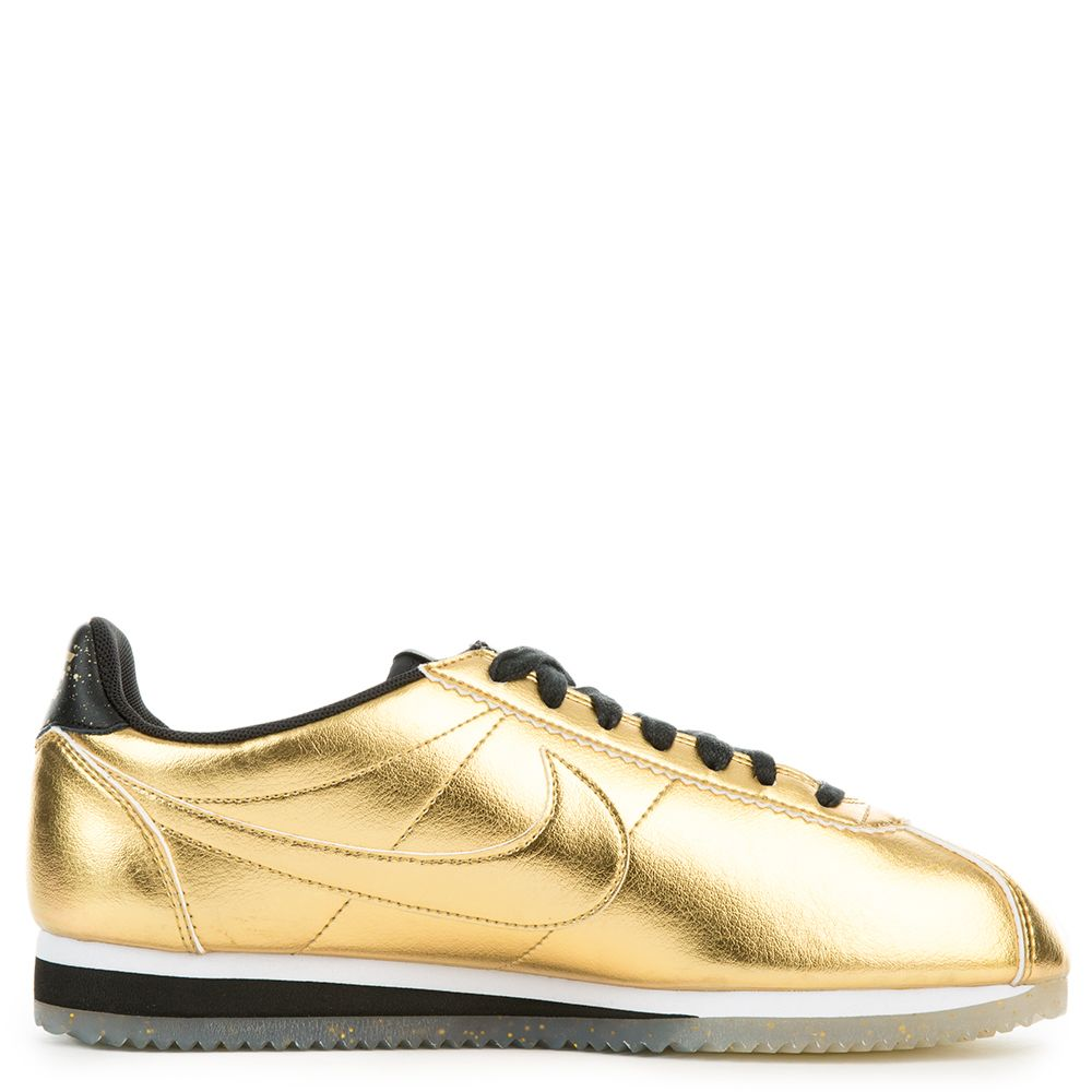 pretty nice 63bfa 4121c W CLASSIC CORTEZ LEATHER SE METALLIC GOLD METALLIC GOLD-WHITE-BLACK