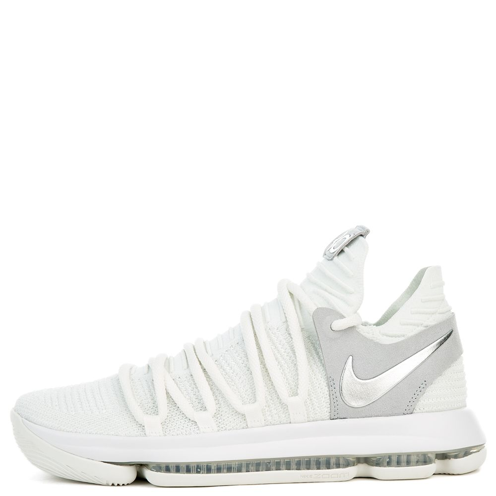 90e7009f2755 NIKE ZOOM KD10 WHITE CHROME-PURE PLATINUM