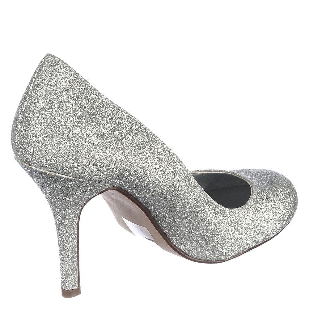 5333ba1e0fb Women s Class-H Low Heel Pump Silver Glitter