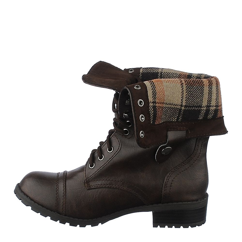 a6c285957860 Women s Fold-Down Combat Boot Oralee-S Brown