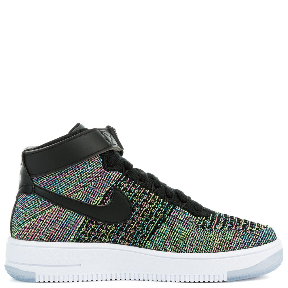 finest selection c3e44 fddc2 AIR FORCE 1 ULTRA MID FLYKNIT (GS) SHOE PINK BLASTBLACK-WHIT