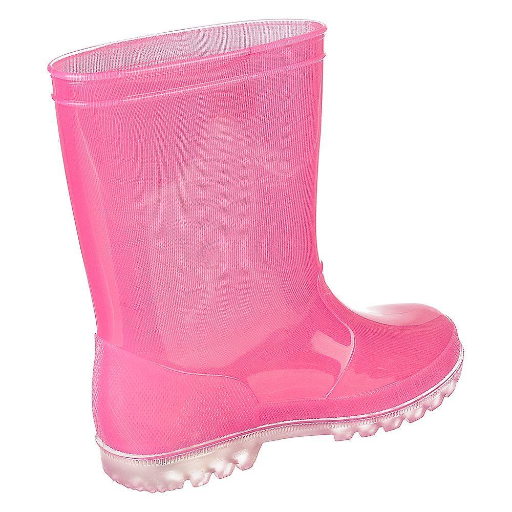 Kids Light Up Rain Boot Light Fuschia