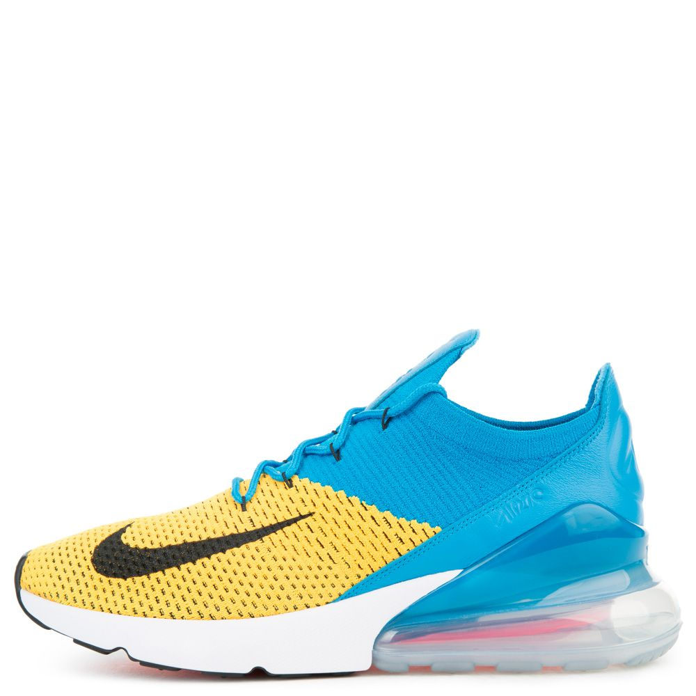 AIR MAX 270 FLYKNIT LASER ORANGE BLACK BLUE ORBIT ee7ede55e