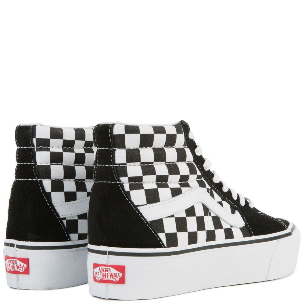 ef85381531691f ... WOMEN S VANS UA SK8-HI PLATFORM 2.0 (CHECKERBOARD) TRUE WHITE ...
