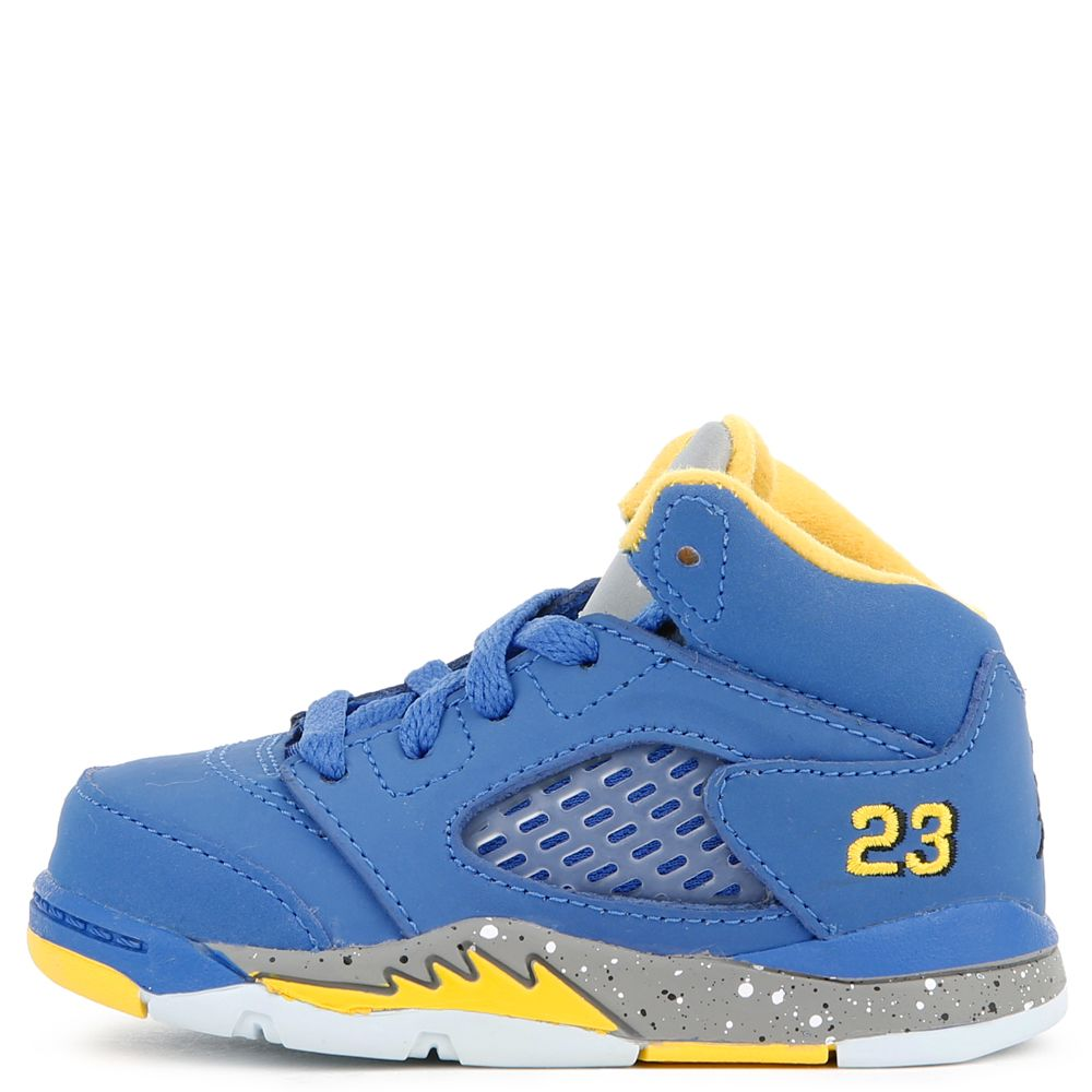 38d42ce6e5a TD) AIR JORDAN RETRO 5 LANEY VARSITY ROYAL/VARSITY MAIZE - Toddler ...