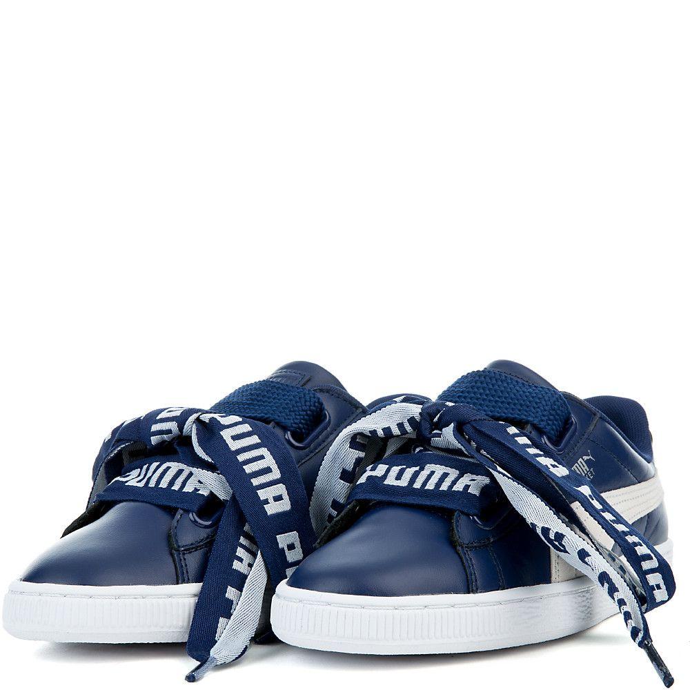 Women s Basket Heart De Sneakers BLUE DEPTHS PUMA WHITE 9b8a2c2a7