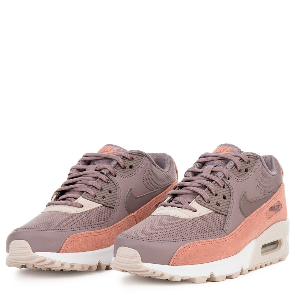 2d7ac2b65b32 WOMEN  S NIKE AIR MAX 90 RED STARDUST TAUPE GREY-SILT RED-WHITE