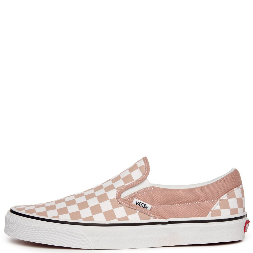 1329ffa43cd women s vans classic slip-on (checkerboard) mahogany rose true white