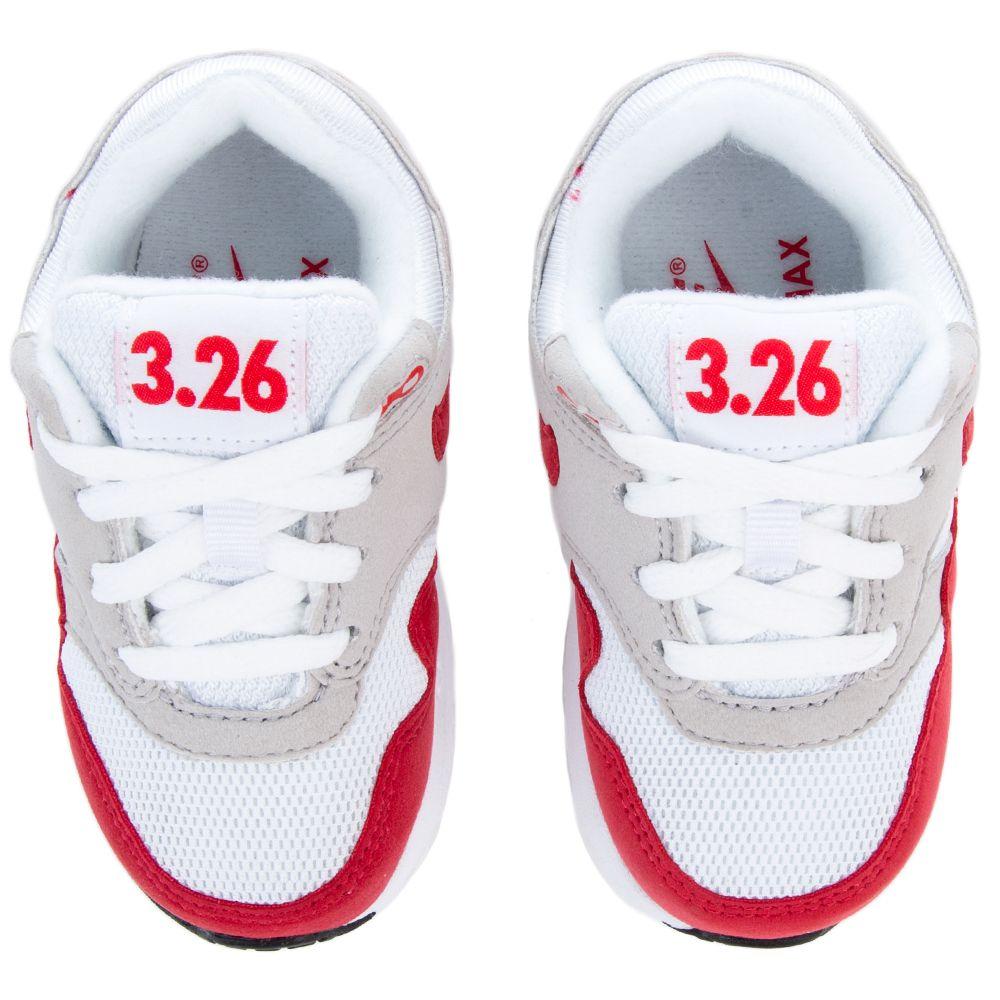 big sale 0b16d 0f446 NIKE AIR MAX 1 QS (TD) WHITE UNIVERSITY RED-NEUTRAL GREY-BLACK