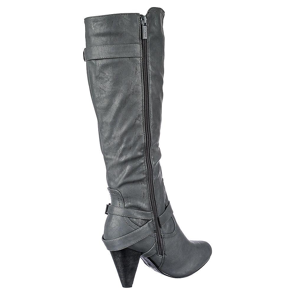 Women s Low Heel Pocket Boot Merton-37A Grey bf11b7865