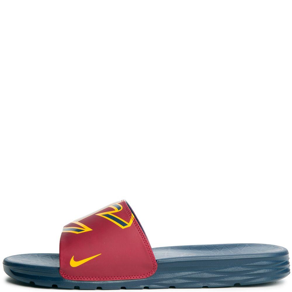 3dd9c649554a Tailor-Made Mens Sandals Nike Benassi Solarsoft Nba University Gold-College  Men United Kingdom Navy Team Red