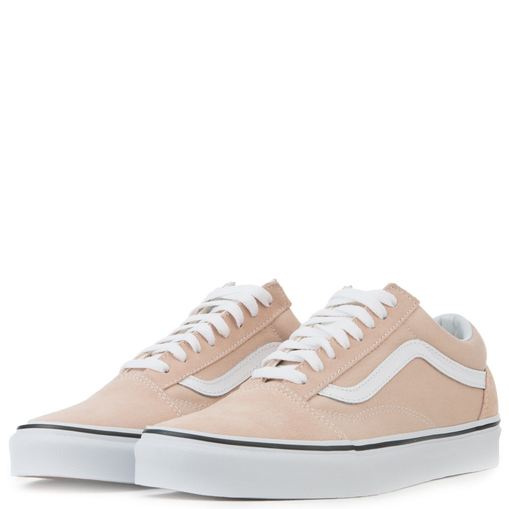 vans old skool frappe & true white womens shoes