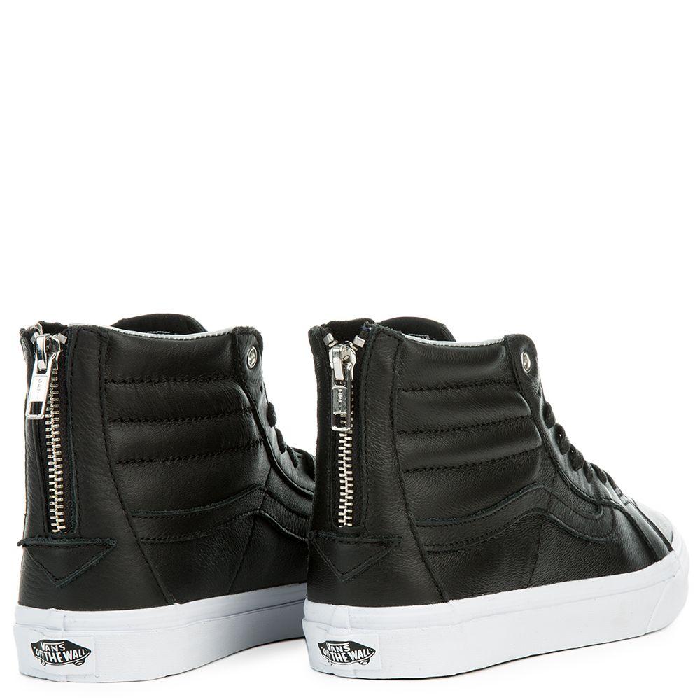 Womens Sk8 Hi Slim Zip Hologram Black True White Vans Sayings Sneakers