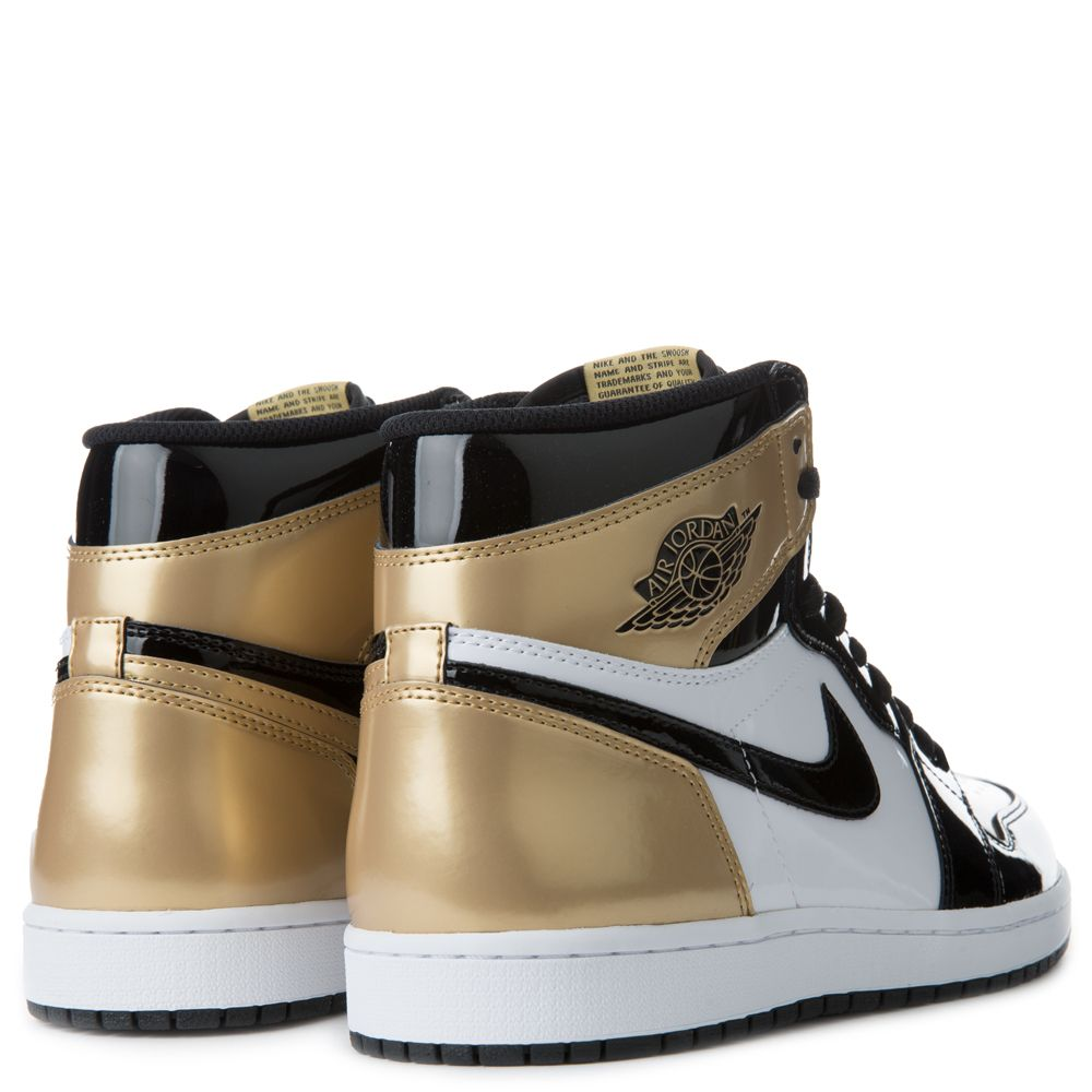 Goldwhite Jordan Og 1 Men's Retro High Air Energy Blackmetallic Ac5Rj4L3q