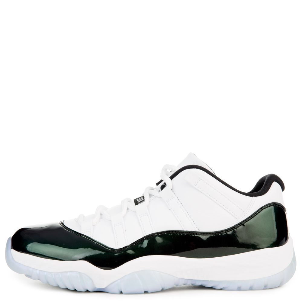 50716ea55bf9 Jordan - MEN S AIR JORDAN 11 RETRO LOW WHITE BLACK EMERALD RISE