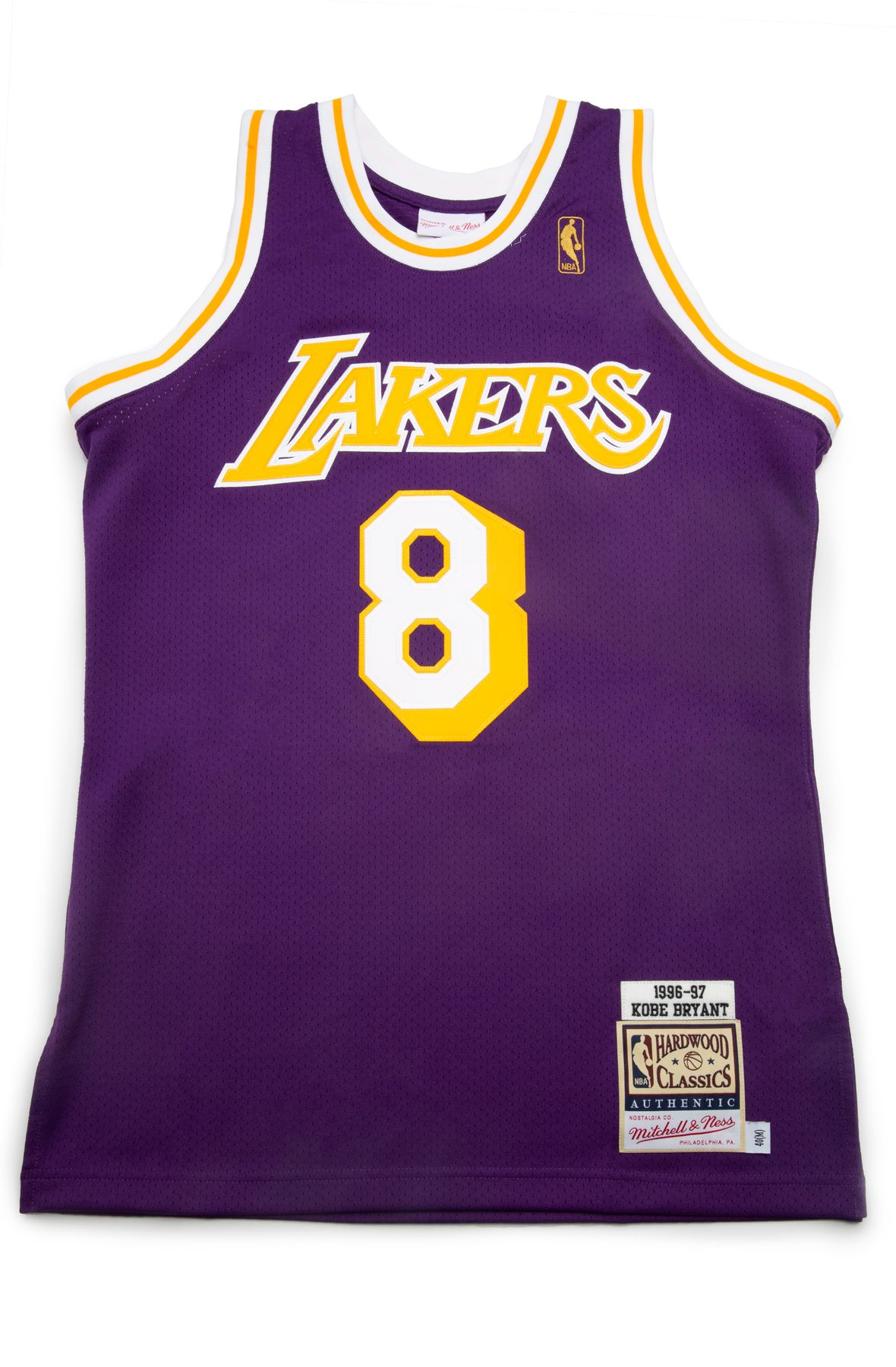 Los Angeles Lakers Kobe Bryant 1996 97 Authentic Road Jersey