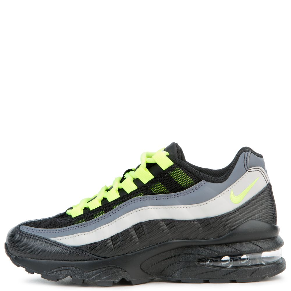 retail prices sneakers for cheap ever popular GS) AIR MAX 95 BLACK/VOLT-DARK GREY-LIGHT BONE