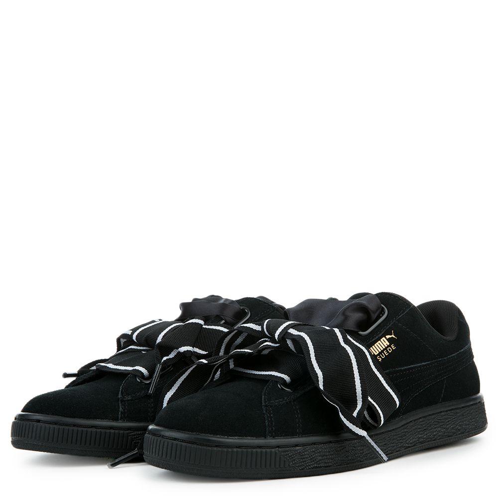 new product b047d 73c24 Women's Suede Heart Satin II Sneaker PUMA BLACK PUMA BLACK