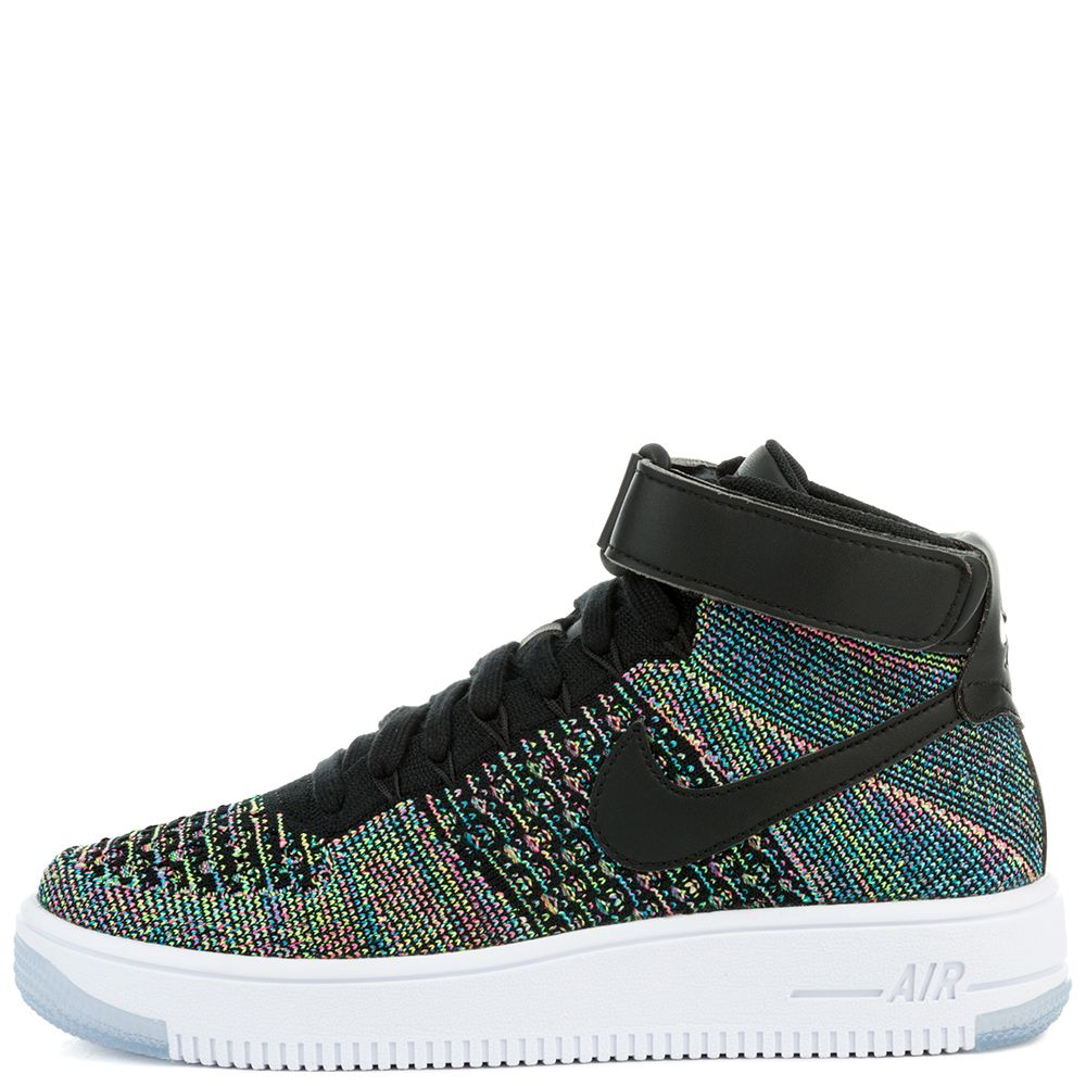 AIR FORCE 1 ULTRA MID FLYKNIT (GS) SHOE PINK BLASTBLACK WHITE