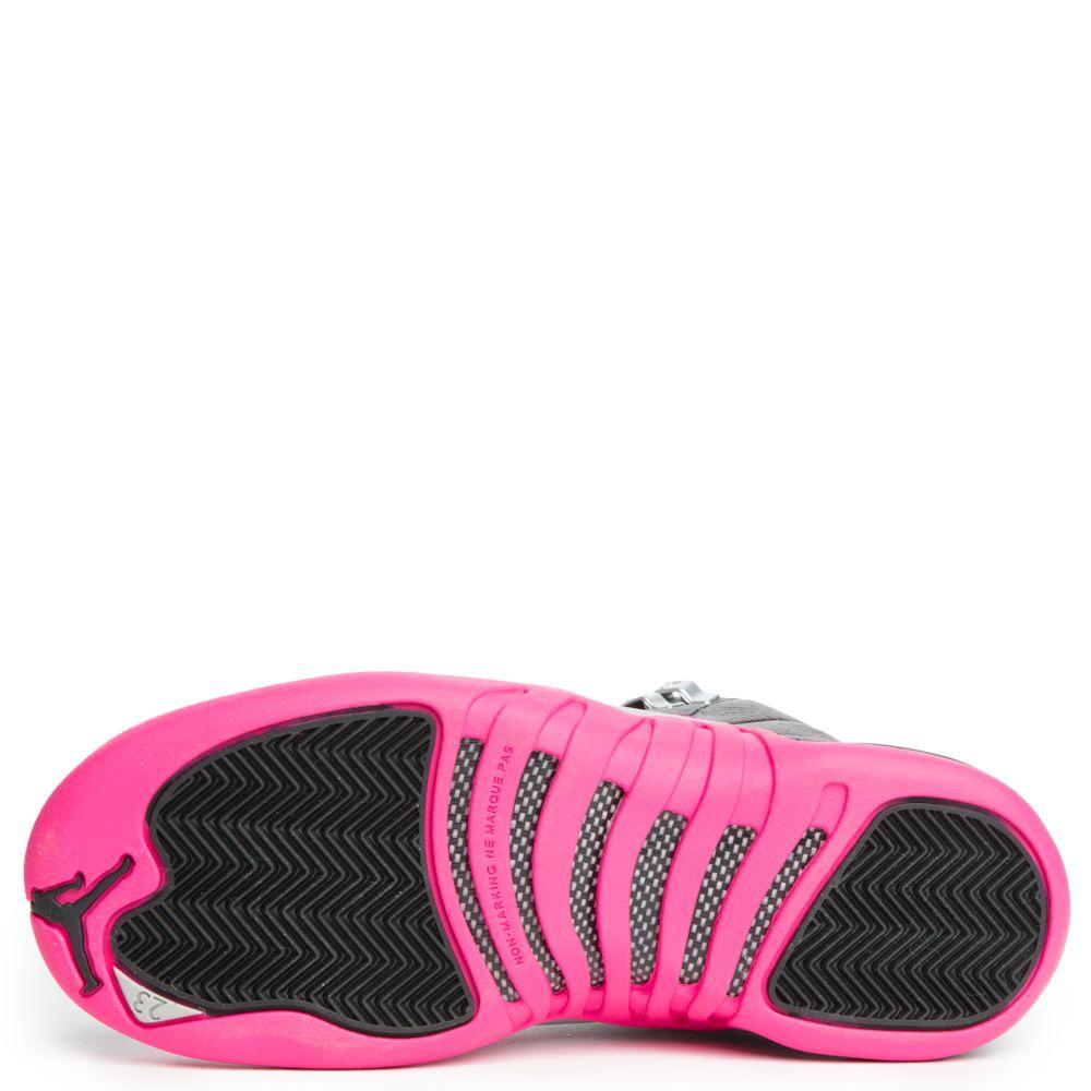 separation shoes 86890 476d7 Jordan 12 Retro BLACK/DEADLY PINK-METALLIC SILVER