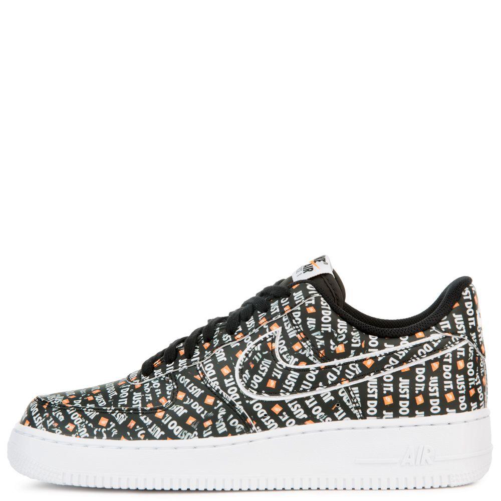 Various Styles Nike Air Force 1 07 LV8 JDI Black White Total Orange AO6296 001 Women's Men's Casual Shoes Sneakers
