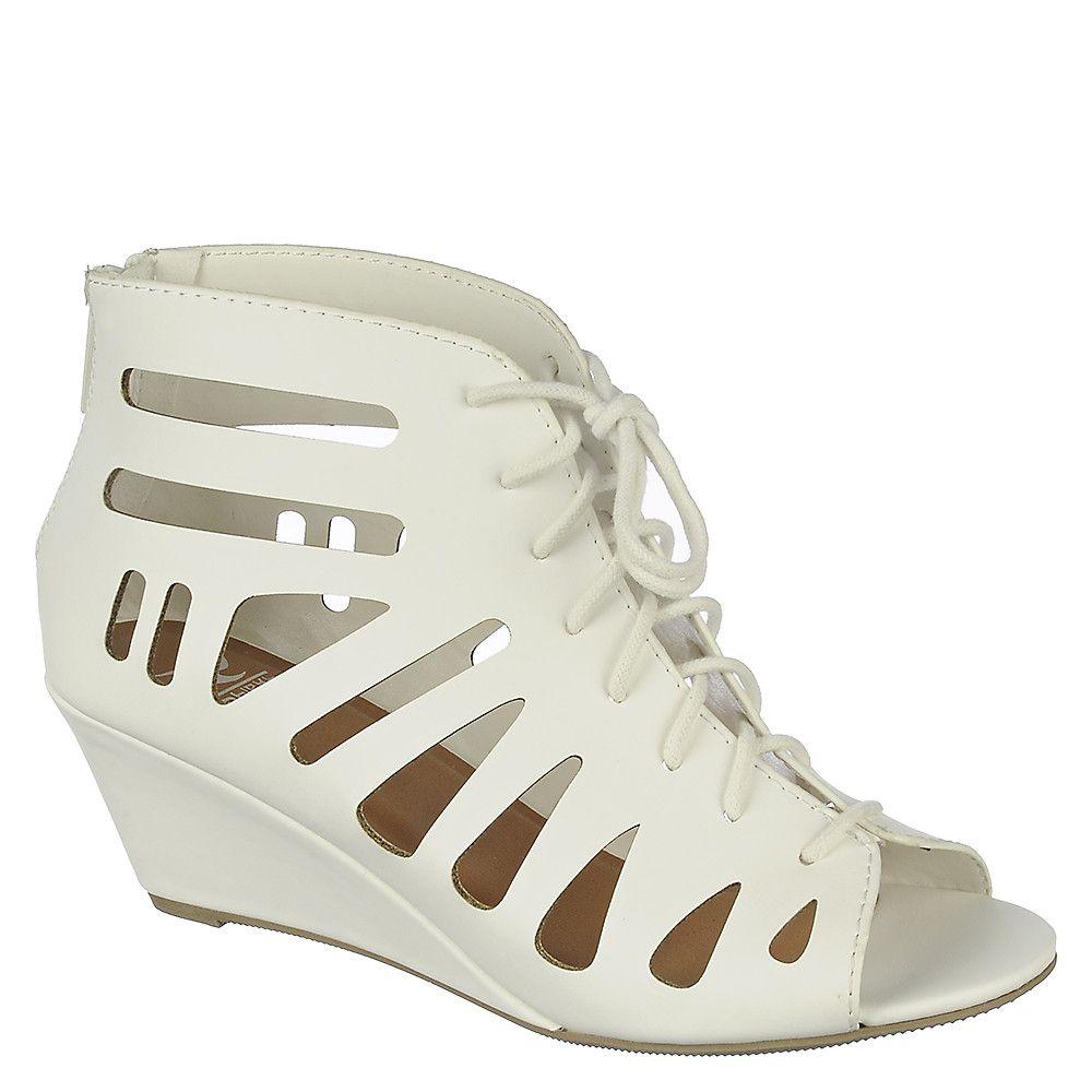 Women's Selia-S Lace-Up Wedge Sandal White