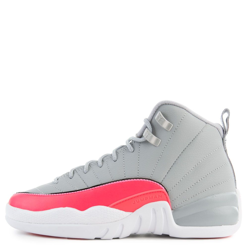 big sale e7a1b 2ce1f (GS) Air Jordan 12 Retro Wolf Grey/Racer Pink-Black