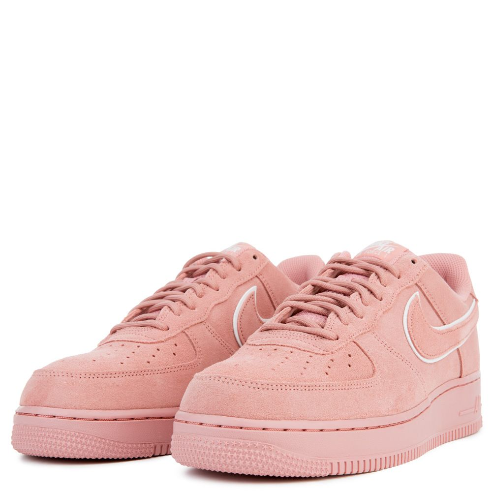 MEN'S NIKE AIR FORCE 1 '07 LV8 SUEDE RED STARDUSTRED