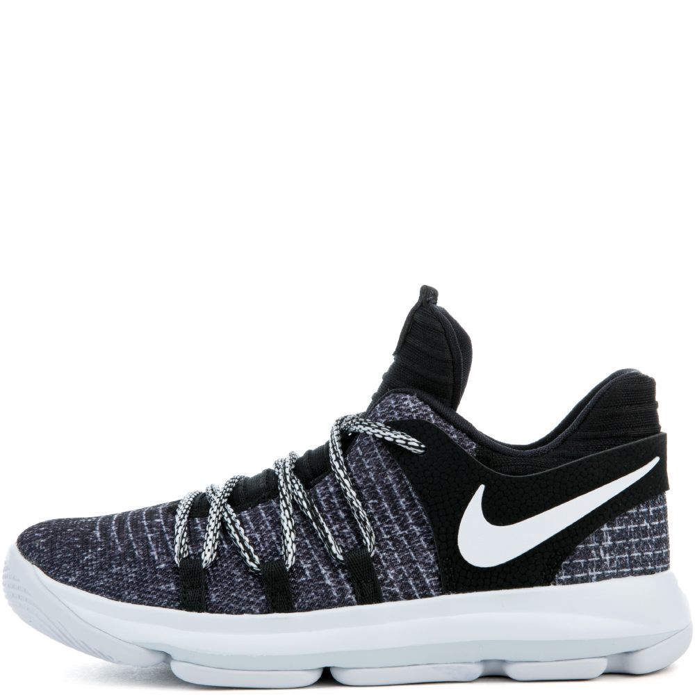 brand new 8836e 8cc29 NIKE KD10 (PS) BLACK/WHITE