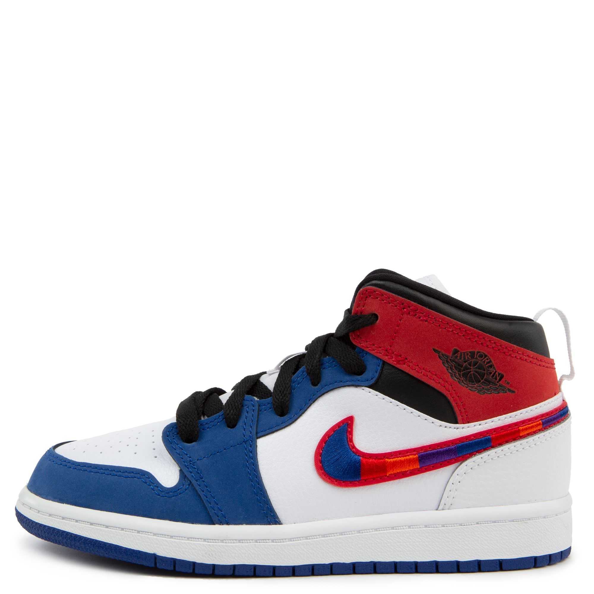 air jordan 1 mid blue toe