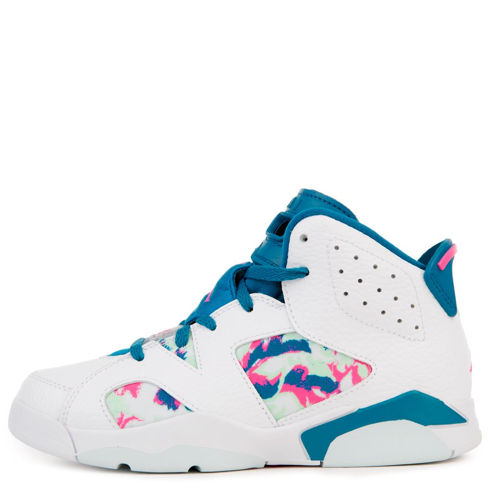 newest collection 97c1d 99c2b (PS) JORDAN 6 RETRO WHITE/LASER FUCHSIA-GREEN ABYSS