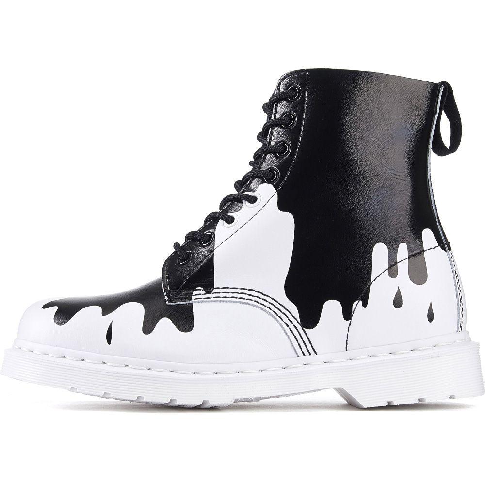 Paint Splat Pascal White \u0026 Black Boots