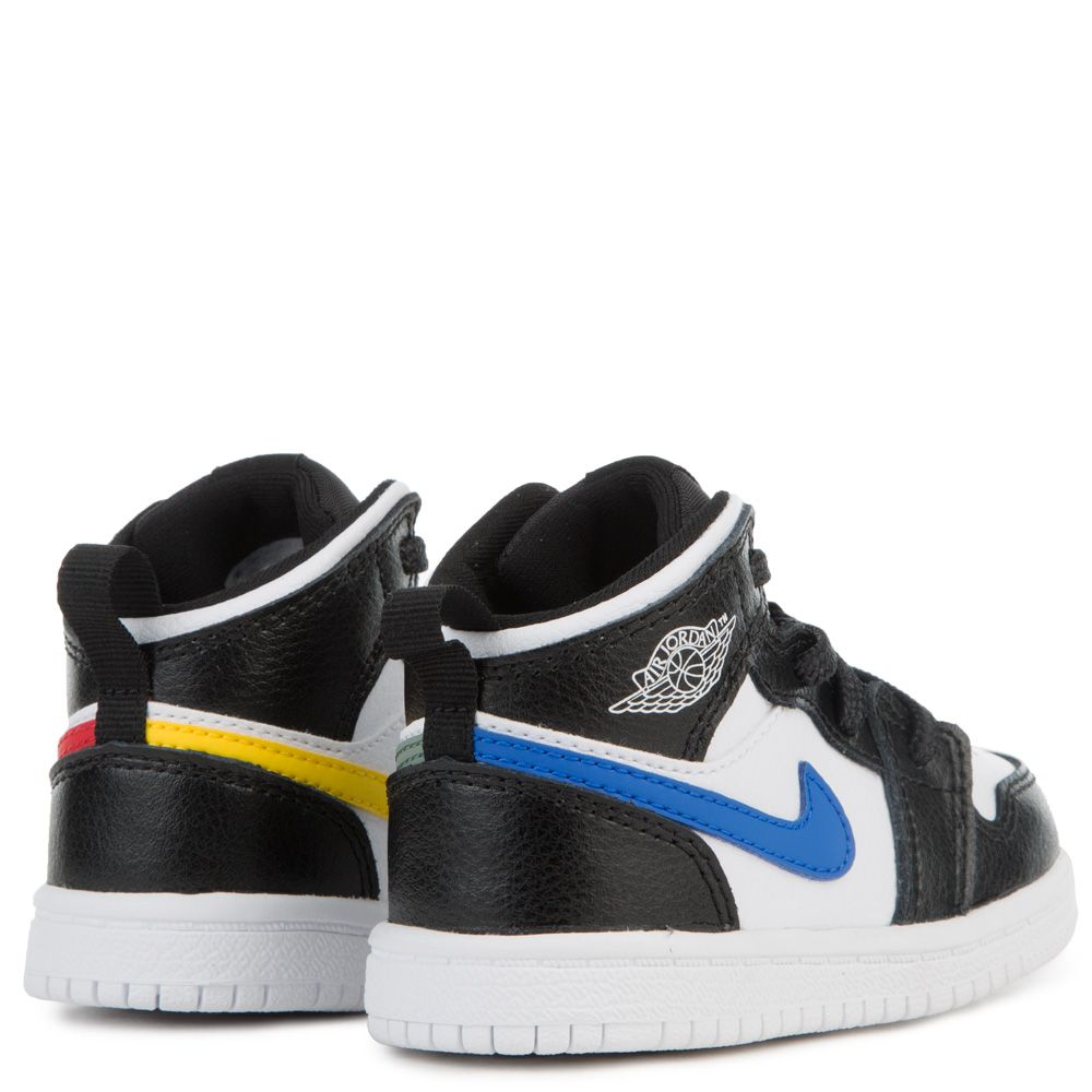finest selection 11f50 bfedd TODDLER JORDAN 1 MID BLACK/WHITE/HYPER COBALT/CLAY GREEN