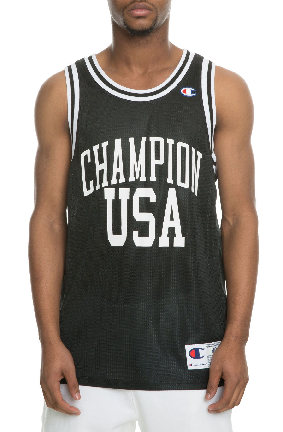 The City Mesh USA Basketball Jersey in Black Black