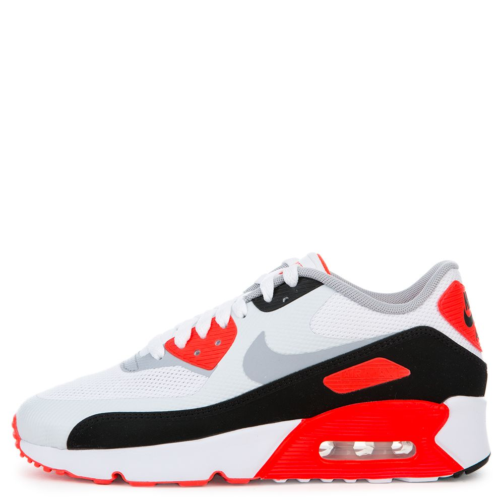 NIKE Air Max 90 Sneakers White and Bright Crimson