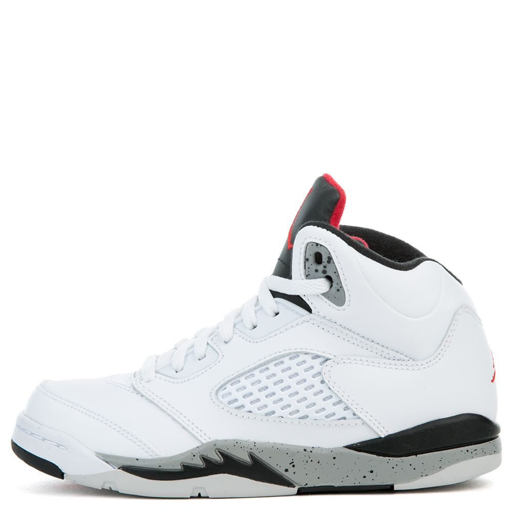 the latest 9402e b5832 Jordan 5 Retro WHITE/UNIVERSITY RED-BLACK-MATTE SILVER