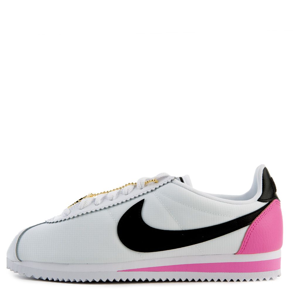 los angeles 1279d 37c90 Women's Classic Cortez Premium White/Black-China Rose