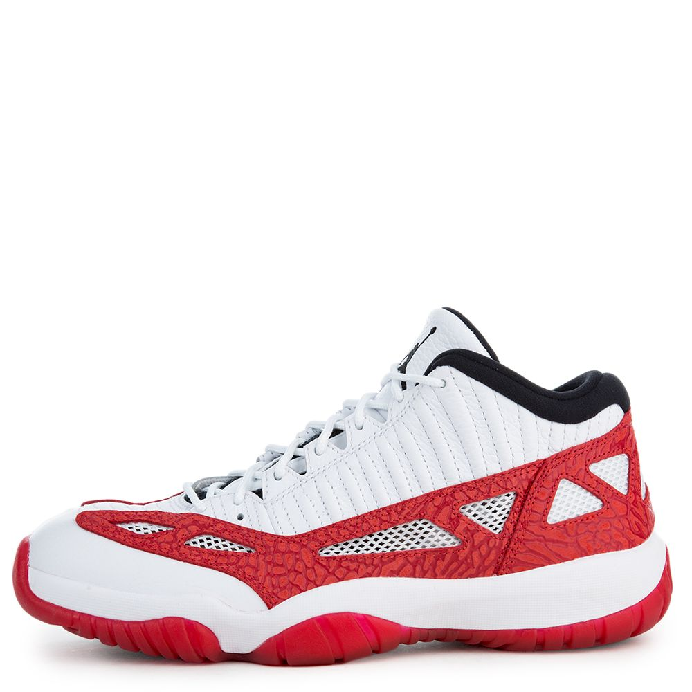 Men S Jordan 11 Retro Low International Exclusive White Gym Red Black