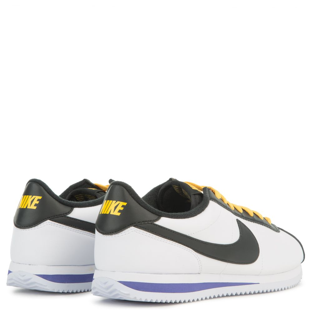 sports shoes d7f0c 7e17c CORTEZ BASIC LEATHER WHITE/BLACK-AMARILLO-FIELD PURPLE